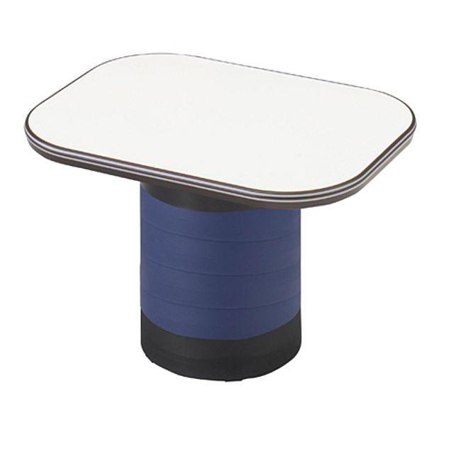 좌식 수납 테이블 블루 탁자 거실 다용도 작업 책상