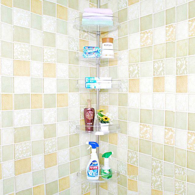 빠띠라인 프리미엄 투명 코너선반 5단 47 수납장 욕실용품 선반 욕실선반 화장실 [제작 대량 도매 로고 인쇄 레이저 마킹 각인 나염 실크 uv 포장 공장 문의는 네이뽕]