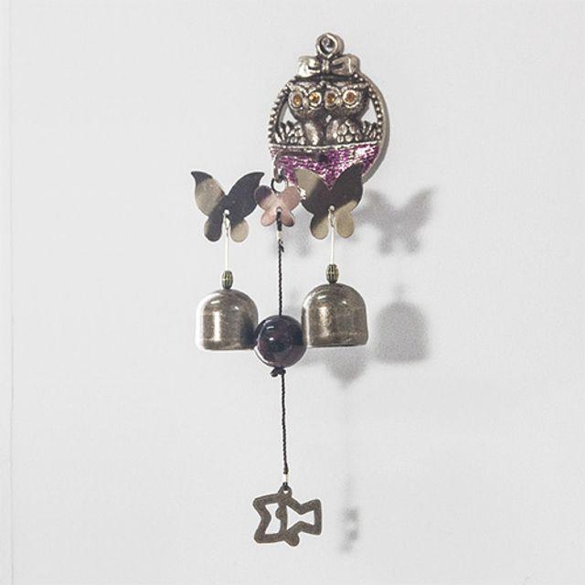 인테리어 소품 둥지 부엉이 나비 자석 종 4color