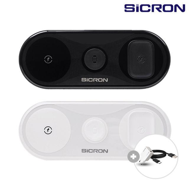 SICRON 15W 고속 무선충전기 패드 워치 ENW-T450Q