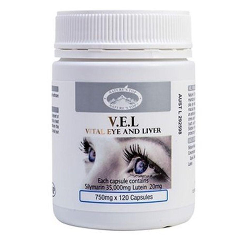 호주 네이쳐스탑 VEL 실리마린 루테인 눈건강 120캡슐