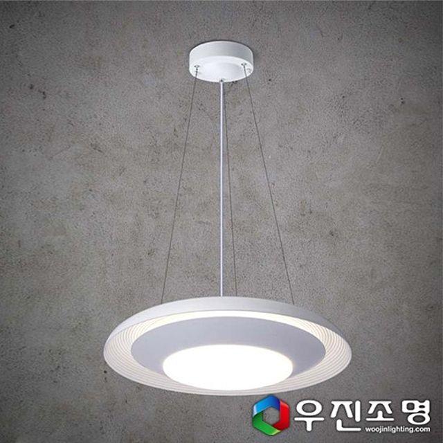 우진조명_ LED 이중 원형 식탁등 20W