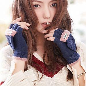 따뜻한  플립 손가락 벙어리장갑(네이비)