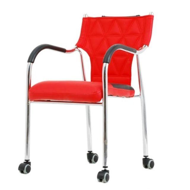 오피스의자 바퀴 의자 회의실 의자 다용도의자 레드