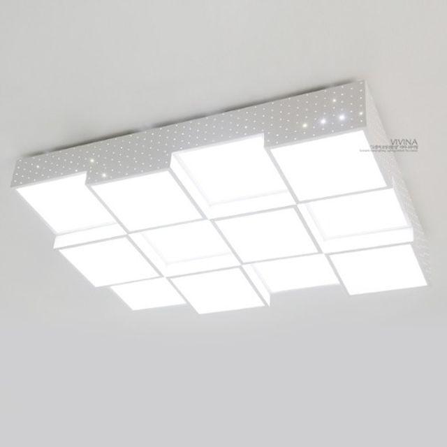 GALH LED 유리아12 거실등(180W/838.6x626) 인테리어