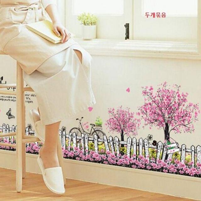 2개묶음창의적인방안벽복도Kicking Line 벽장식소품 주방벽지 시트지