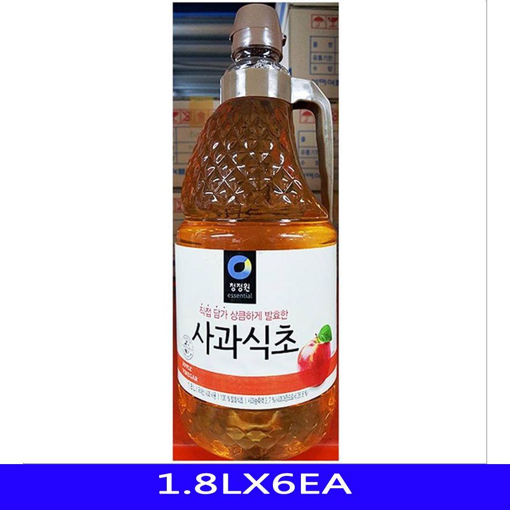 발효 사과 식초 업소용 식자재 대상 1.8LX6EA