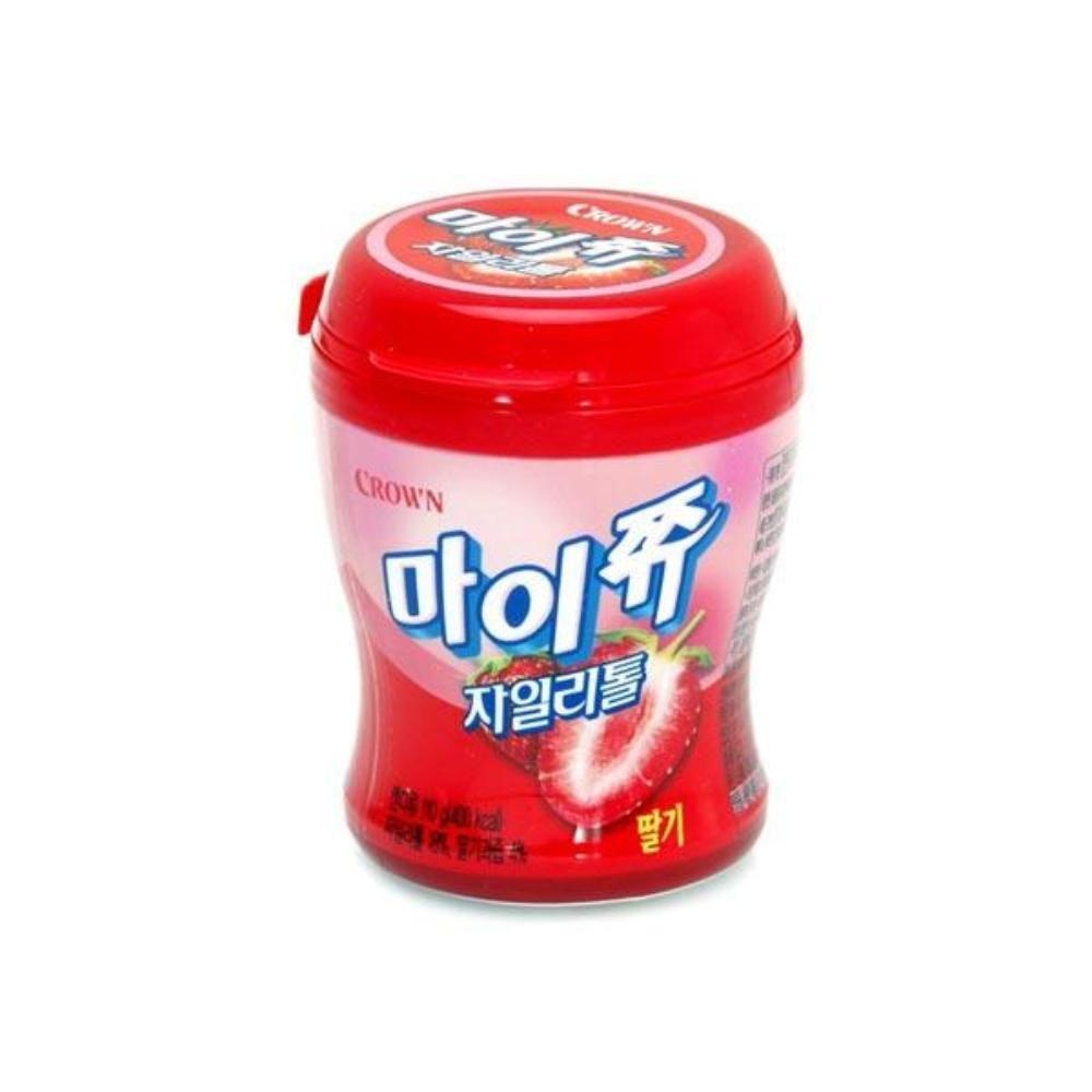 크라운 마이쮸 딸기 용기 110g 스낵 카라멜 간식