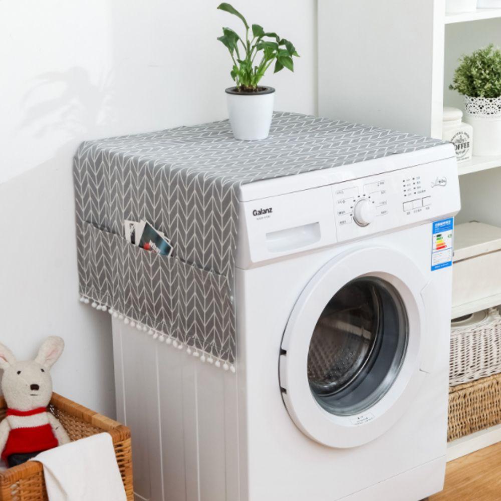 키밍 세탁기 냉장고 전자레인지 커버 수납포켓 패턴