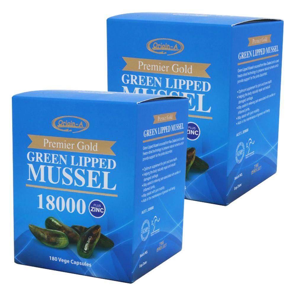 호주 오리진에이 초록입 홍합 18000 아연 180캡슐 2개