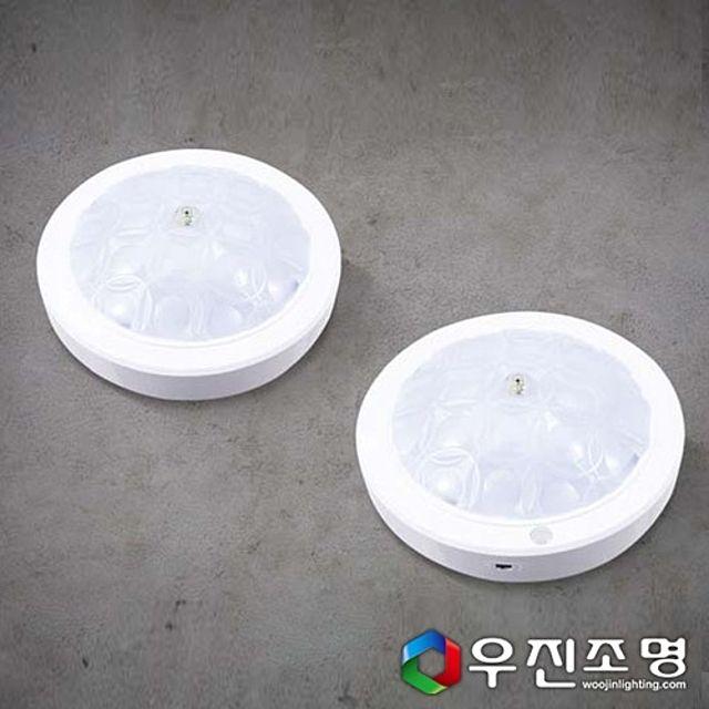 우진조명_ LED 원형 링패턴 직부등 15W (사출)