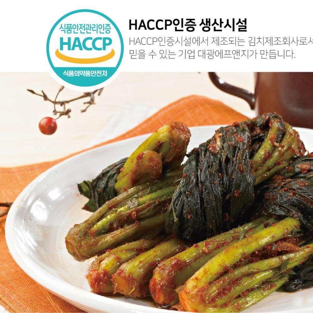 (30년 전통) 올국산 진선미 갓김치 3kg