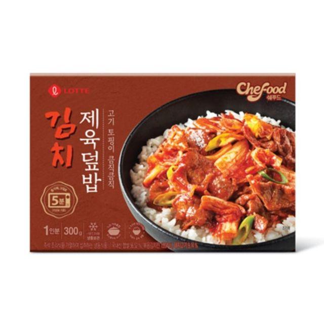롯데 쉐푸드 김치 제육 덮밥 300g