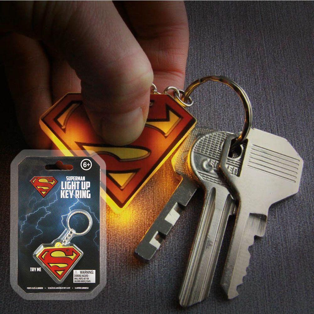 슈퍼맨 로고 라이팅 키링 열쇠고리