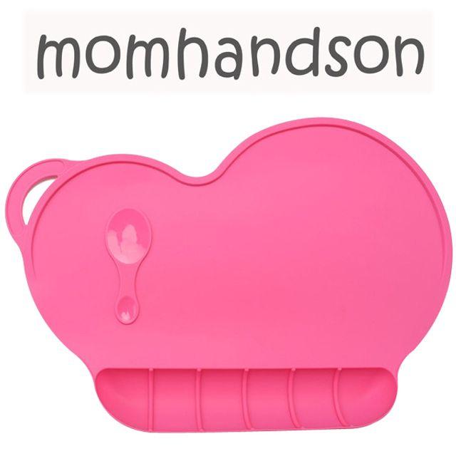 맘핸드슨 실리콘 식탁 매트 진핑크 아동 생활 용품