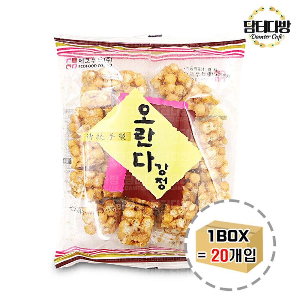 에코푸드 오란다강정 스낵 180g 1BOX (20개입)