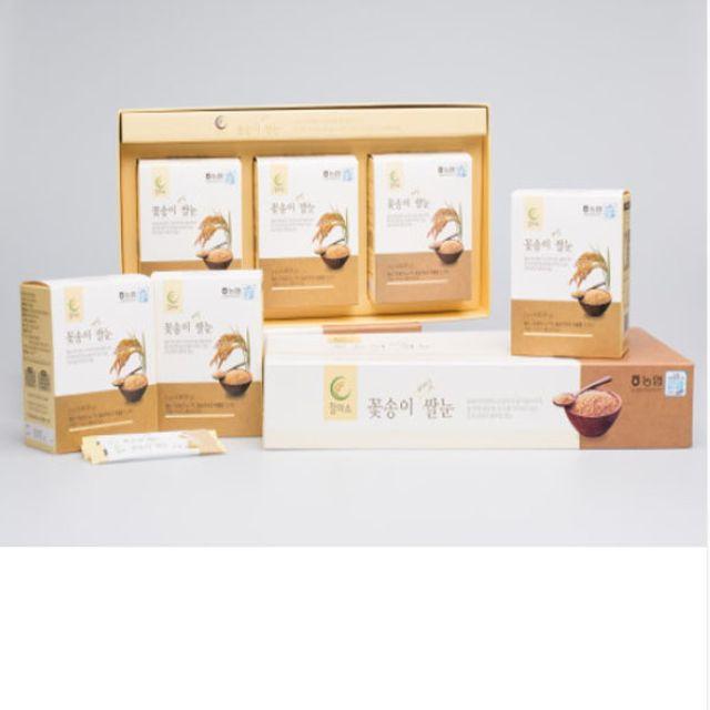 꽃송이 버섯 쌀눈 선물세트 3gx30포 3박스