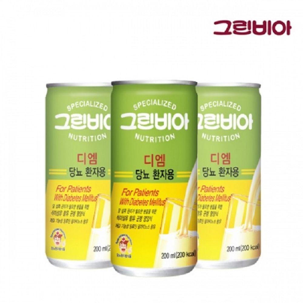 그린비아 디엠 200mlx30캔 당뇨 환자용 간편 유동식