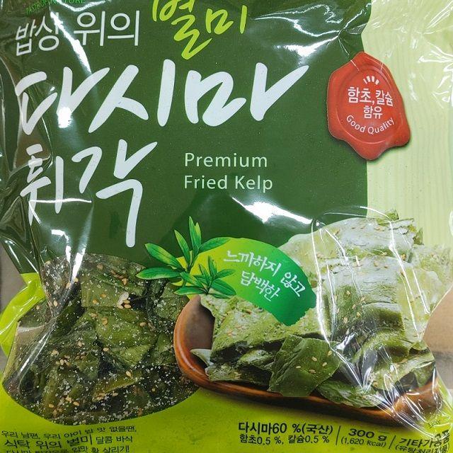 달콤 바삭 국내산 다시마튀각 300g