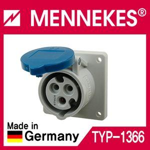 아이티알,MT MENKS TYP 1366 230V 16A 3P 판넬형 소켓 직선형