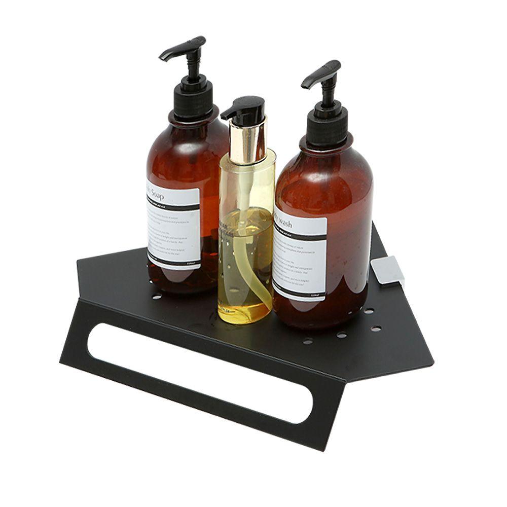 블랙알미늄 수건걸이형 코너선반_욕실 화장실선반