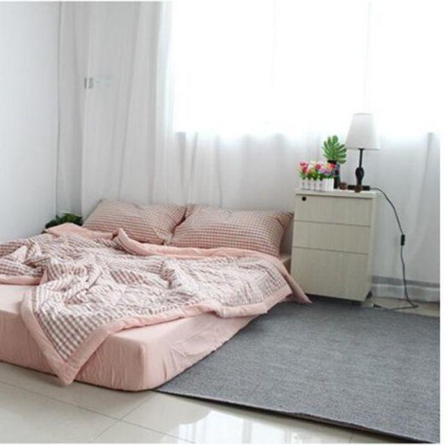 200 230cm 워싱면 세트 침대 커버(이불1개+베갯잇2개)