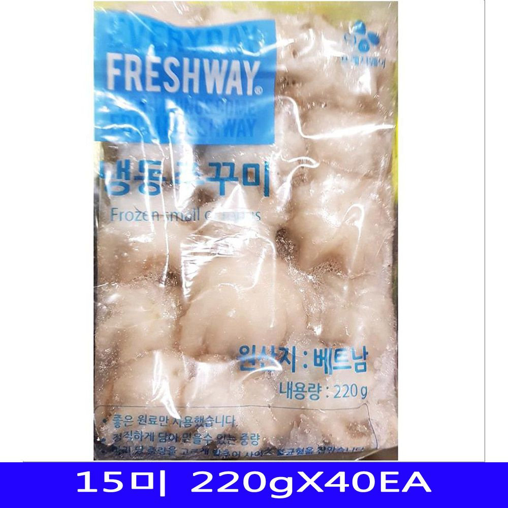 냉동수산물 냉동쭈꾸미 프레시웨이 15미 220gX40EA