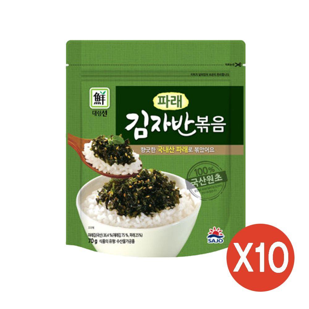 대림선 반찬 주먹밥 김자반 파래김자반 70g x 10팩