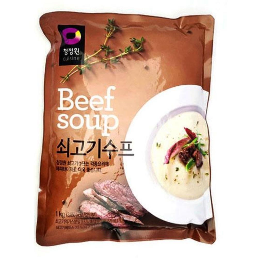 부드러운 쇠고기수프 1kg 아침식사 식사대용식 아침식