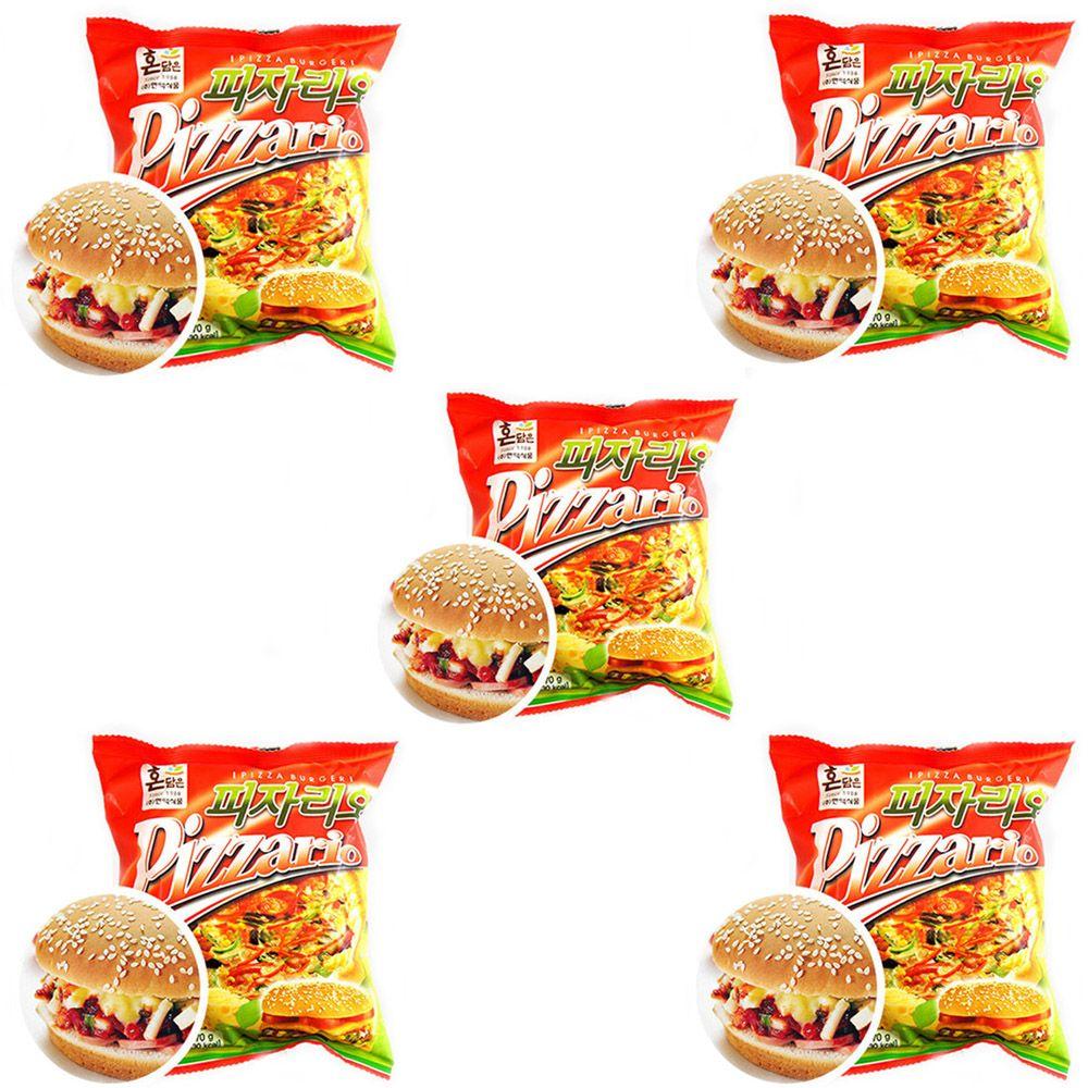 이경규 햄버거 독서실 간식 피자버거 빵 피자리오 5EA