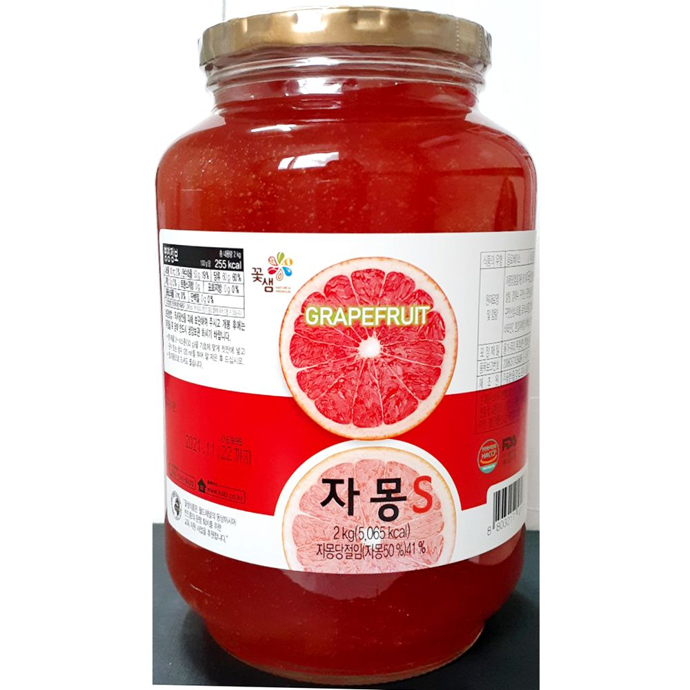 업소용 대형 음식점 식자재 식재료 꿀자몽차 2Kg X3