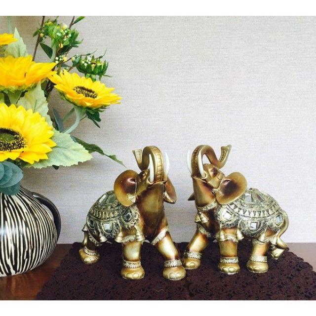 W675998 코끼리 인형 거울 코끼리 세트 소품 장식 코끼리 인테리어 엔틱 (소)