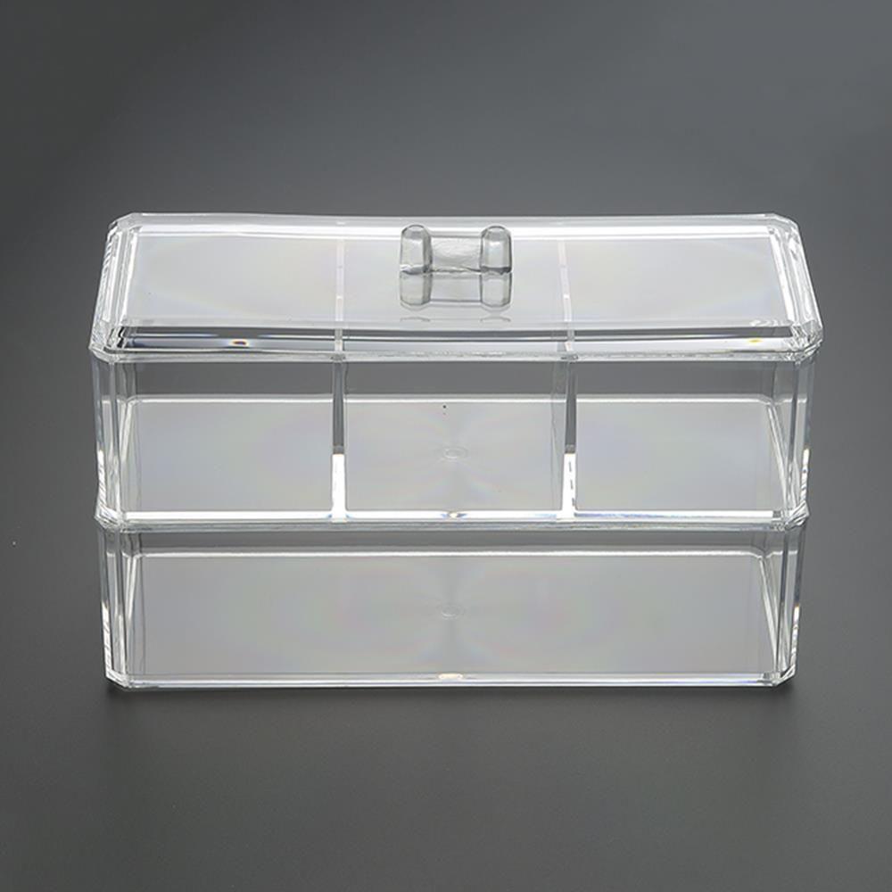 2단 4칸 투명 화장품 정리함 메이크업수납 이미용