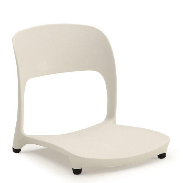 좌식 고정 의자 바닥패킹 CB 화이트 컬러 식당 음식점
