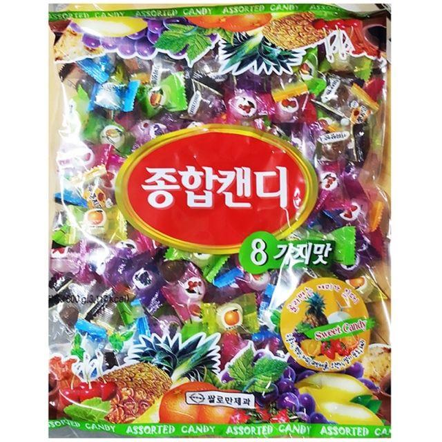 쌀로만 맜있는 종합 사탕 업소용 800g 6봉