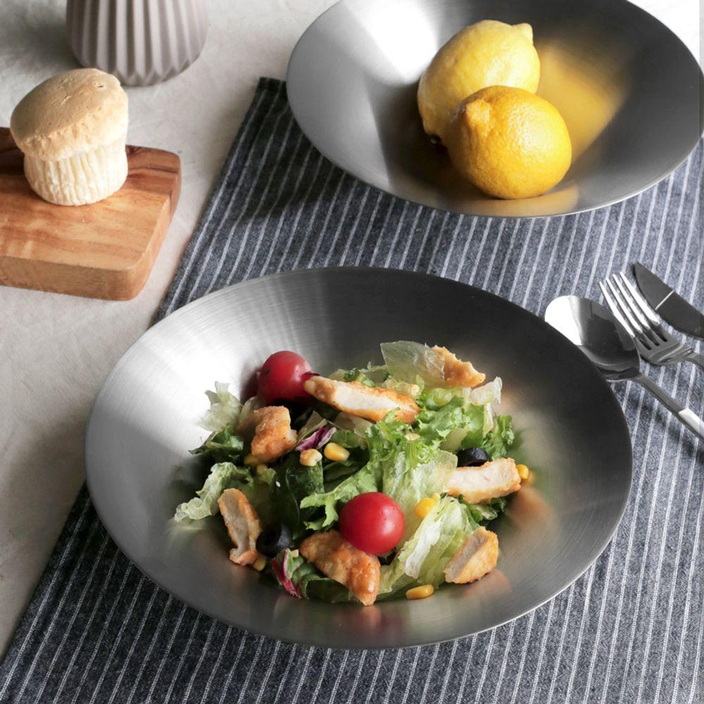 깔끔한 사브로 샐러드볼 3size 스텐그릇 파스타그릇 샐러드그릇