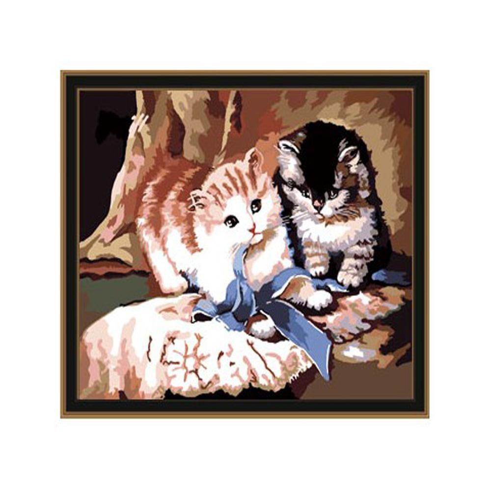 DIY 동물그리기 귀여운고양이 40X50