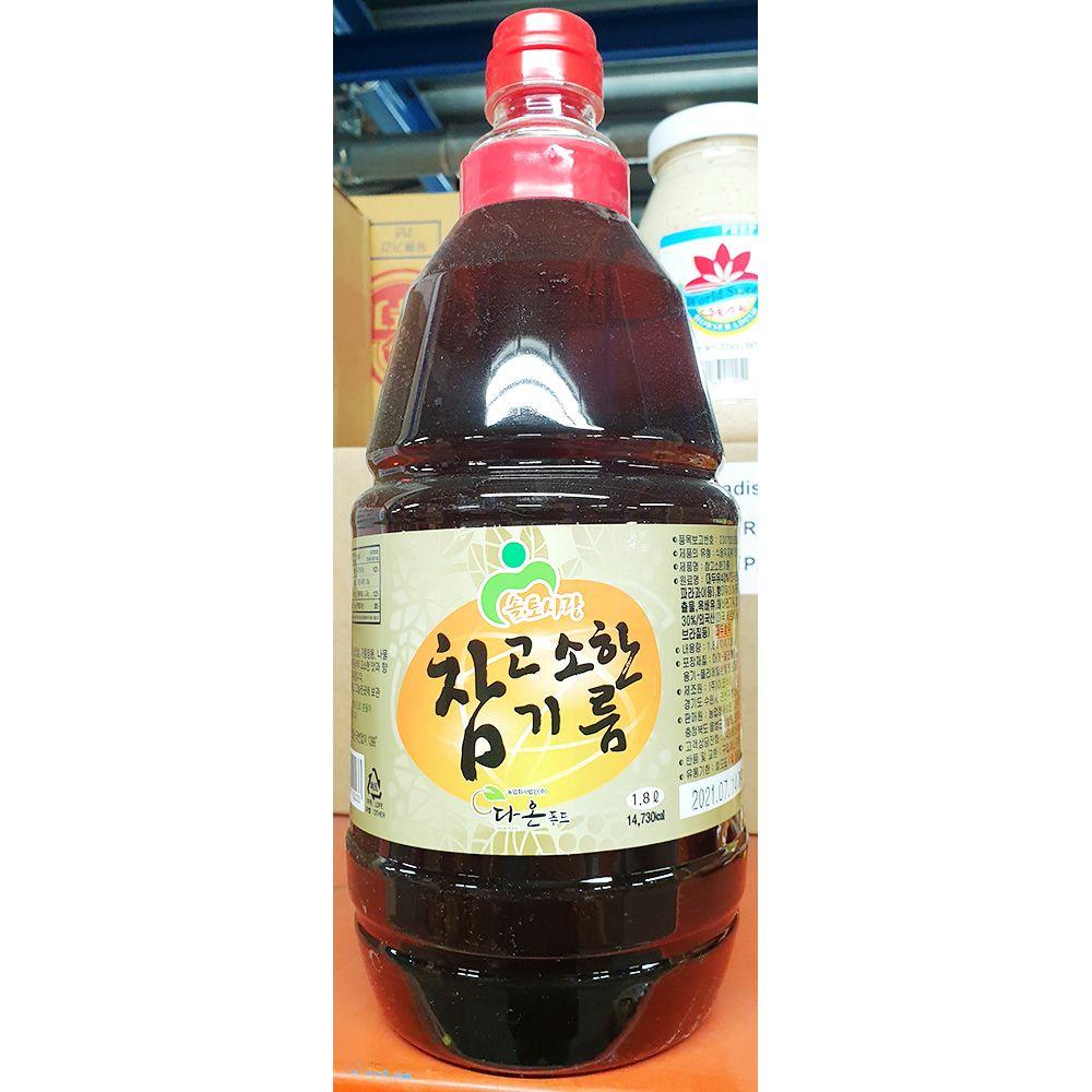 참고소한 향미유 솔토사랑 1.8L x12개 참기름 맛기름