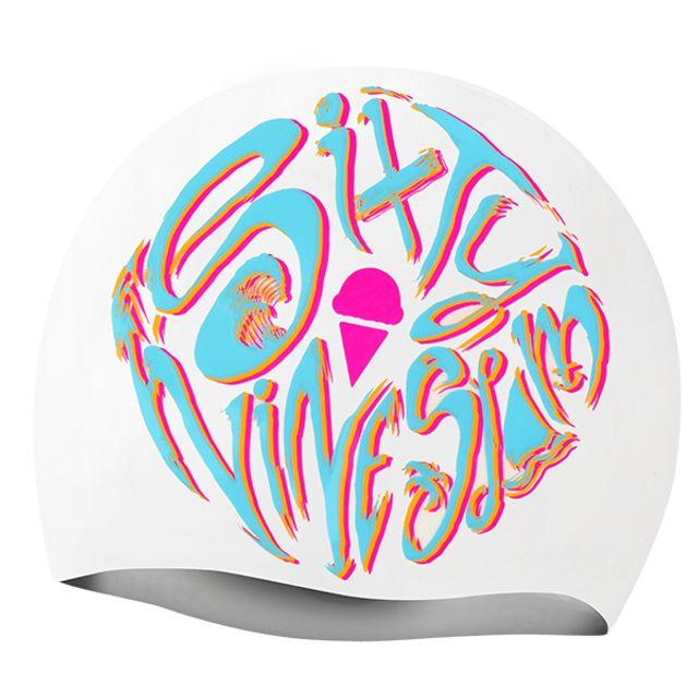 수영용품 로고플레이 WHT69SLAM 실리콘 수모 수영모자 디자인수영모 수중운동용품