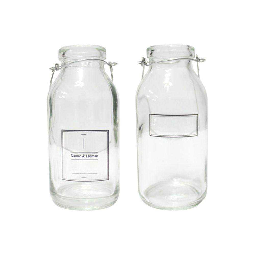 인테리어 맑은병 유리병 2가지 카페 장식 소품 블랙 M