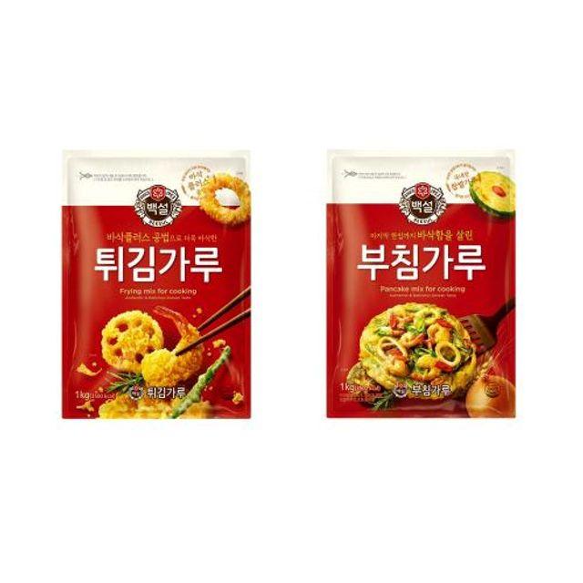 CJ 백설 튀김가루 1kg 바삭한 다양한 튀김요리