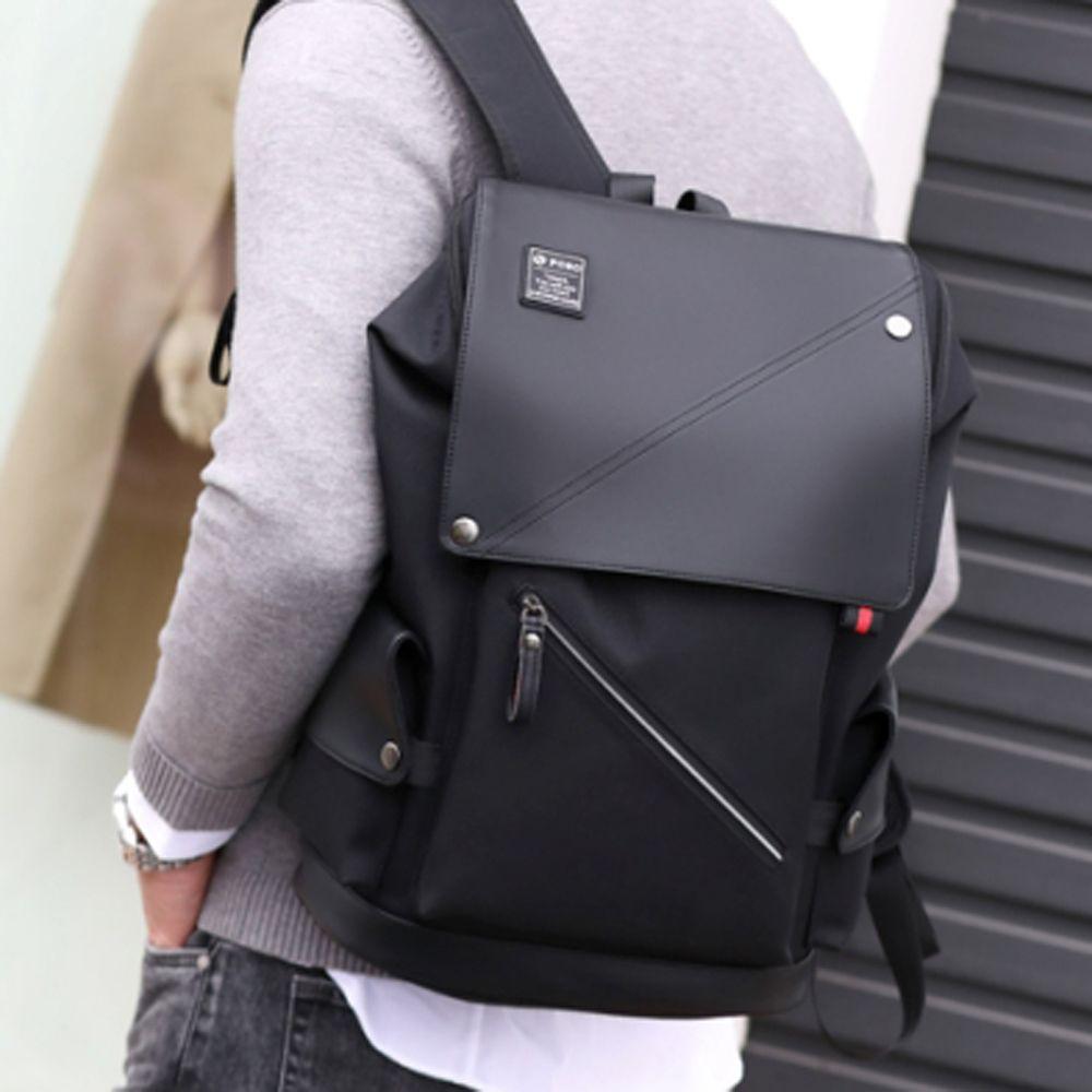 롤캡 디자인 백팩 노트북 수납 USB 여행 데일리