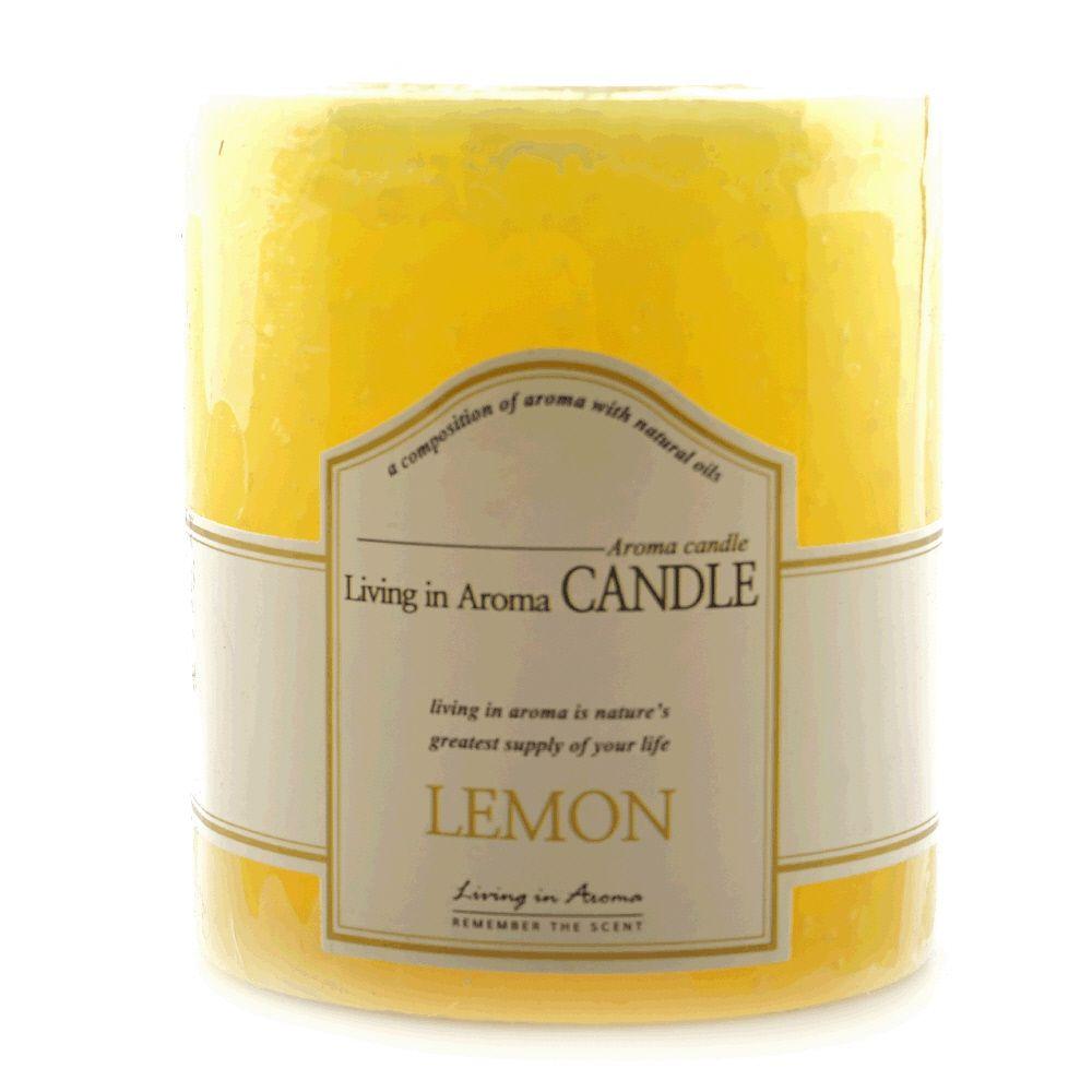 리빙인아로마 양초캔들 향초 레몬 260g