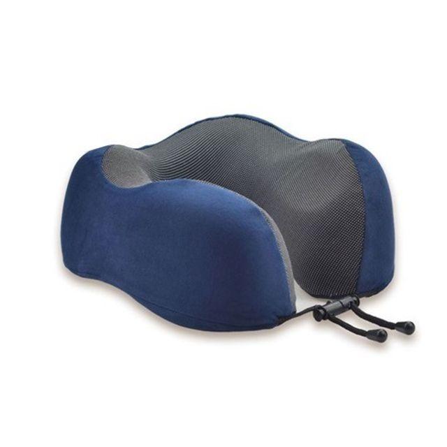 사무실 운전 여행용 기내용 메모리폼 목베개 네이비