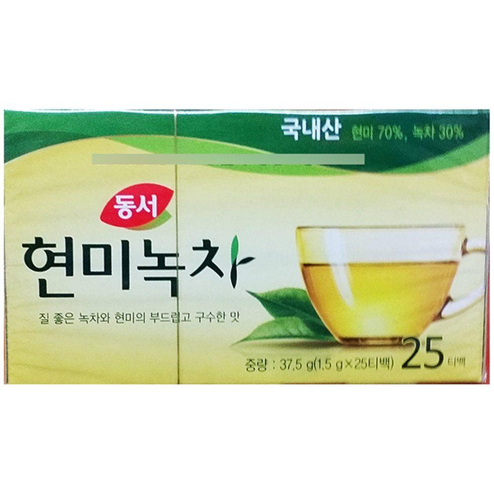 녹차 현미 티백 동서1.5x25T x6개 차류 음료 업소용