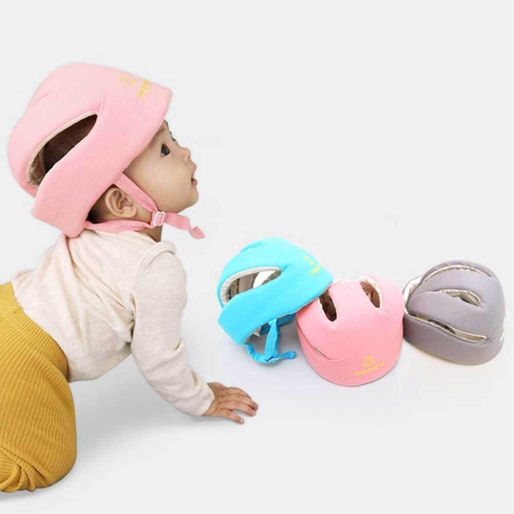 기어다니는 아기 머리 보호대 헬멧 처럼 사용