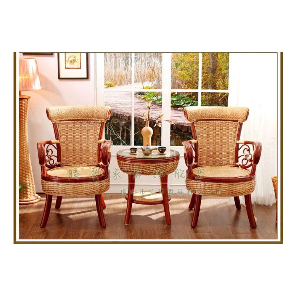 등나무 의자 차탁 세트 발코니 테이블 의자 장식가구