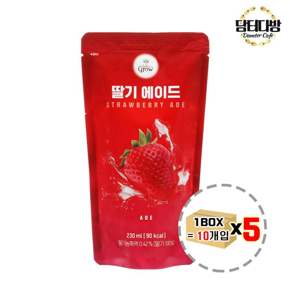 BG(발란스그로우) 딸기에이드 230ml 1BOX (10팩X5입)