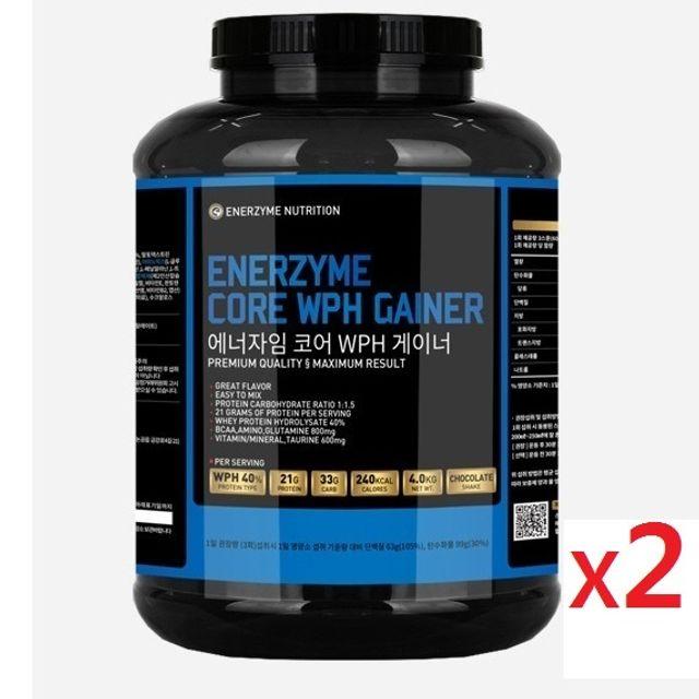 벌크업 헬스 단백질 보충제 WPH 게이너 4kg 2통