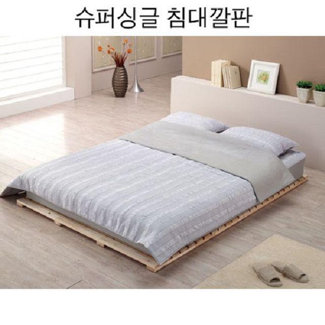 침대깔판 삼나무 마루형 슈퍼싱글 깔판 매트리스별매